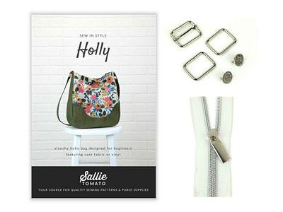 Sallie Tomato Purse Of The Month Kit-Holly STPOM2
