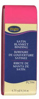 Satin Blanket Binding Bright Pink - 117794022