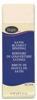 Satin Blanket Binding Ivory - 117794810