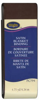 Satin Blanket Binding Seal Brown - 117794092
