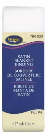Satin Blanket Binding White - 117794030