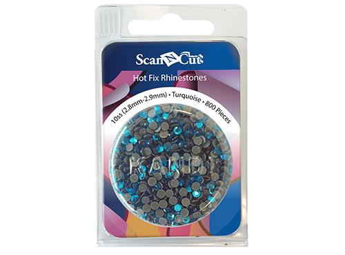 Scan-N-Cut Turquoise Rhinestones 10SS Refill Pack CARS10T