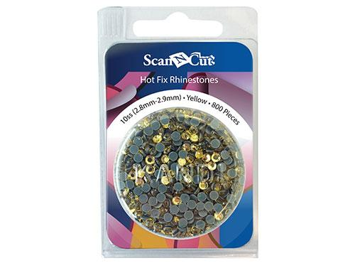 Scan-N-Cut Yellow Rhinestones10SS Refill Pack CARS10Y