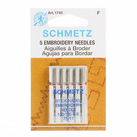 Schmetz Embroidery Machine Needle Size 11/75