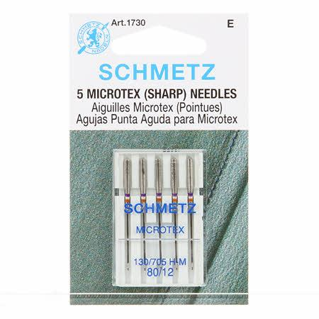 Schmetz Sharp / Microtex Machine Needle Size 12/80 - 1730