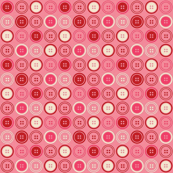 Sewing Mood Lg Buttons Pink  12021713