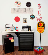 Sewnatra Black Arrow Sewing Cabinet