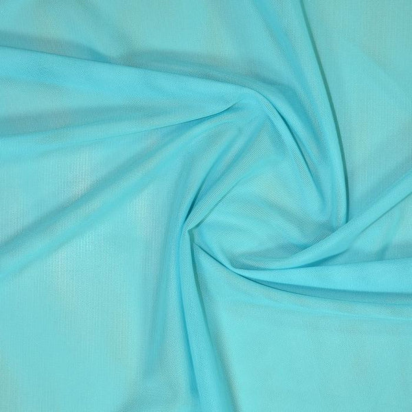 Sheer Stretch Mesh Aquamarine28