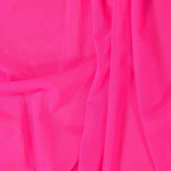 Sheer Stretch Mesh Neon Pink 09