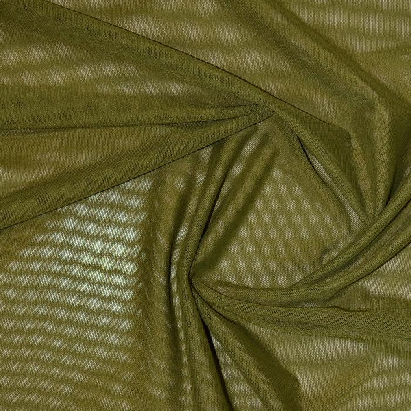 Sheer Stretch Mesh Olive