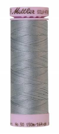 Silk-Finish Ash Blue 50wt 150M Solid Cotton Thread