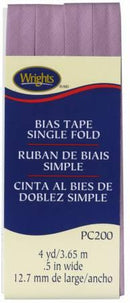 Single Fold Bias Tape Lavendar- Wrights 117200051