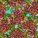 Stained Glass Garden-Roses Aqua 1649-28267-Q