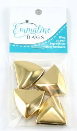 Strap End Caps Pointed in Gold 4pk EBCAP-2GO
