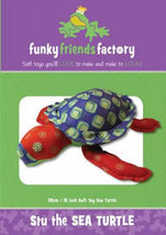 Stu the Sea Turtle Pattern - 12in Stuffed Soft Toy - FF4514