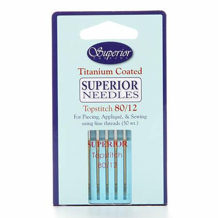 Superior Topstitch Machine Needle Size 80/12 5ct - 1328012
