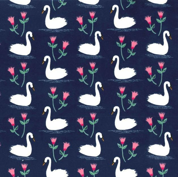 Swans A Swimming Minky SMP6943-MIDN-D