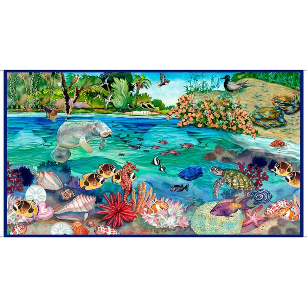 "This & That IV-24"" Manatee Panel Blue 1649-28138-B"