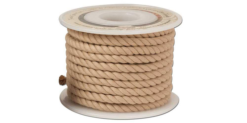 Twisted Cotton Cord 6mm Spool-Natural 5150-02