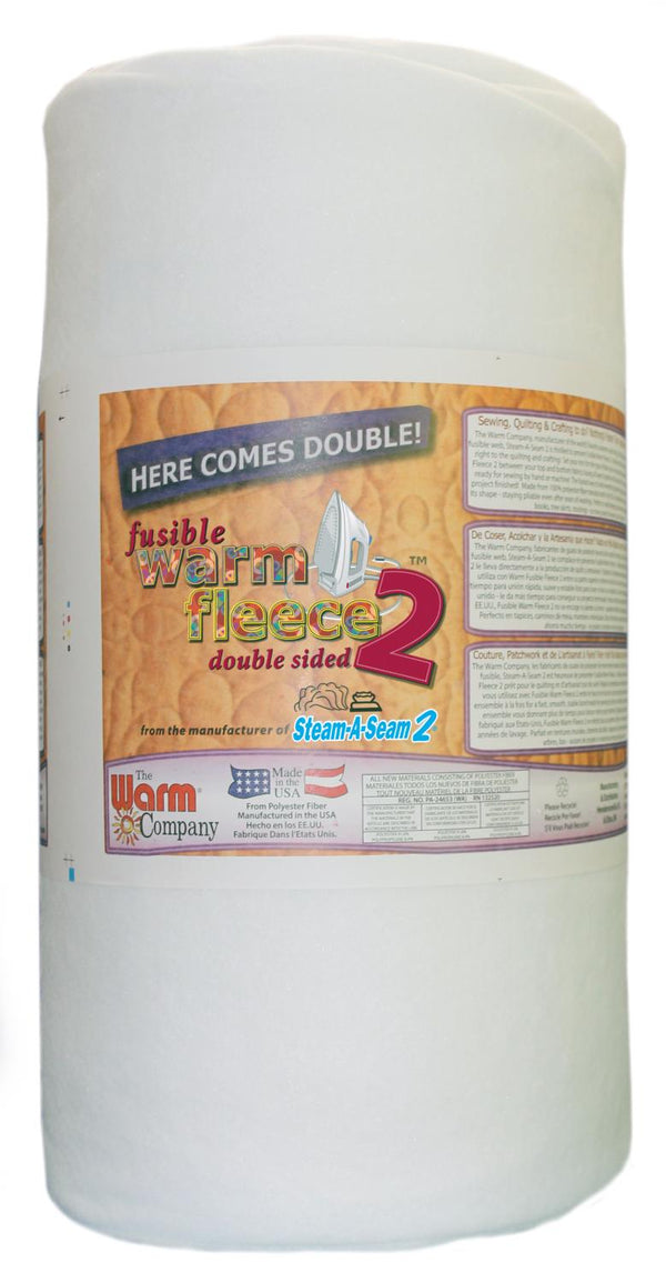"Warm Fleece Double Sided Fusible Batting 45"" 1893WN"