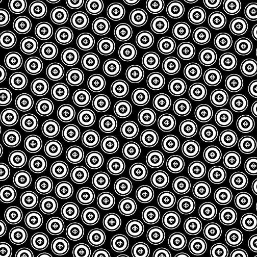 Night & Day-Dotty Buttons Black/White 10401-90