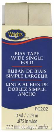 Wide Single Fold Bias Tape Khaki-  117202097