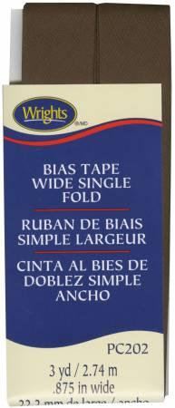 Wide Single Fold Bias Tape Mocha-  117202765