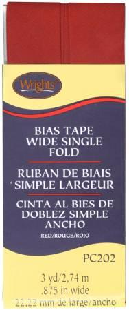 Wide Single Fold Bias Tape Red-  117202065