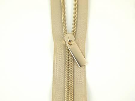 Zippers By The Yard Beige Tape3 yds