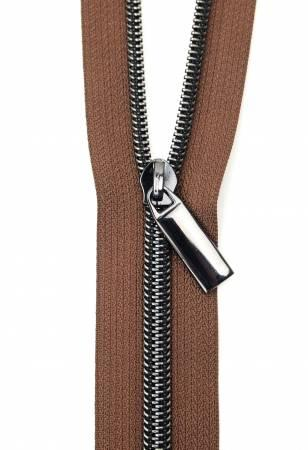Zippers by The Yard-Brown/Gunmetal #5  ZBY5C35