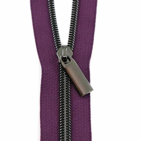 Zippers by The Yard-Purple/Gunmetal ZBY5C40