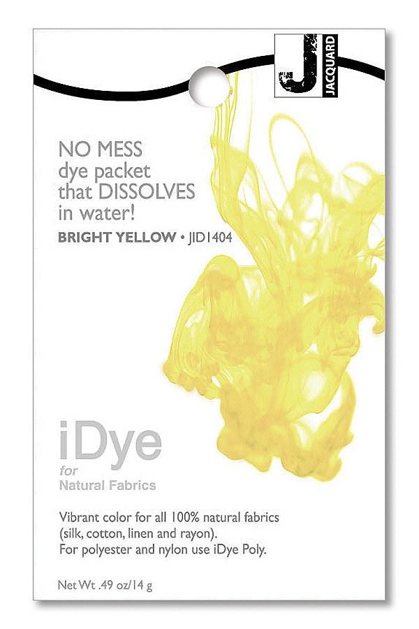 iDye 14g pkg Natural Bright Yellow Fabric Dye