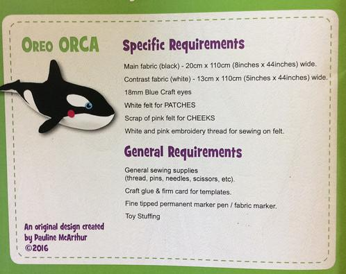 Oreo Orca Pattern - 17in Stuffed Soft Toy - FF4712