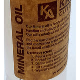 8 OUNCES MINERAL OIL (cutting board care)