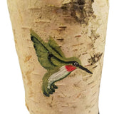HUMMINGBIRD CANDLE HOLDER, MADE FROM BIRCH TREE, CANDLE 6""