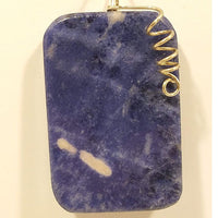ENERGY STONE PENDANT. SOLALITE (TRUTH, RATIONAL THINKING)