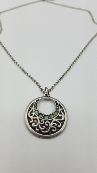 Green Scroll Necklace