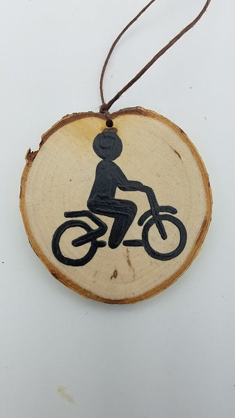 Small Bicycle Birch Ornament