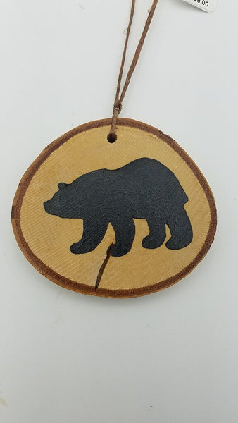Small Bear Birch Ornament