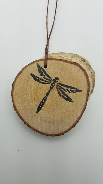 Small Dragonfly Birch Ornament