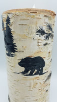 "8"" Bear Birch Candle"