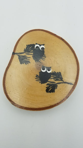 Owl Birch Tree Slice Coaster (Single)