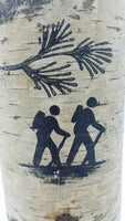 "8"" Hiker Birch Candle Holder"