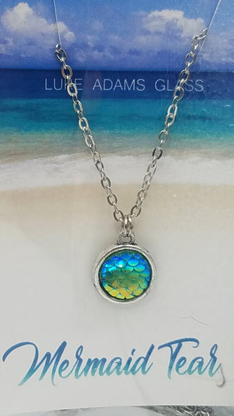 Green Mermaid Scale Necklace