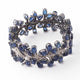 1 Pc Antique Finish Designer Pave Diamond with Kyanite Bracelet - 925 Sterling Silver -Bangle Size : 7x1 inches Bd329