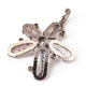 1 Pc Antique Finish Pave Diamond Flower Pendant - 925 Sterling Silver-Diamond Pendant- Necklace Pendant 33mmx29mm PD1758