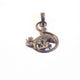 1 Pc Beautiful Pave Diamond Lizard ,Ruby Eye Pendant Over 925 Sterling Silver 29mmX24mm Pd363