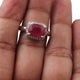 1 PC Pave Diamond With Ruby Ring - 925 Sterling Silver- Diamond Ring-Women Jewelry--Size:7.5 SJRD050