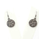 1 Pair Pave Diamond Stars With Round Earrings - 925 Sterling Silver- 18mmx14mm-16mmx7mm ED555