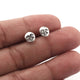 1 Pair Moon Face stud earrings - Tiny Moon Face stud earrings - 925 Sterling Silver 7mmx6mm ED618